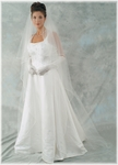 Elegant romantic cascading cathedral wedding veil - SALE!! custom order rhinestone edge