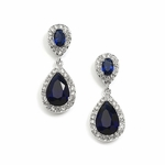 Elegant sapphire blue drop earrings - SALE