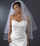 Elegant Satin Corded Edge Wedding Veil, customize - SALE!!