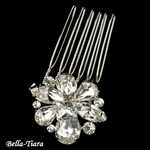 NEW!! Elegant Silver Clear Rhinestone Petite Flower Hair Comb