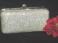 Elegant silver irredescent evening purse - SPECIAL!!  two left