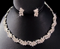 Elegant Sparkling Floral collar Necklace Set - SALE!