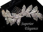 Elegant dazzling swarovski crystal side hair comb - sale