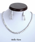 Elegant tennis style Cubic Zirconia Necklace Set  - SPECIAL!!!