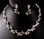 Elegant Vine with round Austrian Crystal Necklace Set