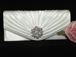 Elegant White or ivory clutch wedding purse - SPECIAL