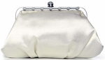 Elegant White or Ivory Bridal Wedding Clutch Purse  - SPECIAL TWO LEFT