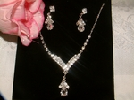 Eleganza - Crystal drop Bridal Necklace Set