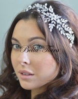 Elena design - Designer high end Swarovski crystal vine headband