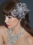Elena Designs Wired crystal Flower Headpiece - SALE
