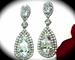 Elena - Gorgeous high end statement wedding earrings - SALE
