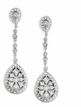 Eliana-Vintage inspired Cubic Zirconia Bridal Earrings