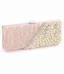 Elise - Stunning Champagne pearl evening purse -- SALE