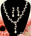 Elizabeth-ASTONISHING Cubic Zirconia Vine Bridal Necklace Set - SALE!