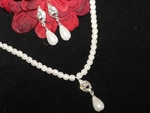 Ella - Classic and Elegant pearl Drop Bridal Necklace Set - SALE!!