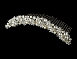 Ella -- Sparkling Freshwater Pearls and Crystal Comb Tiara - Sale!