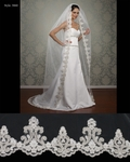 Elliana - Royal Collection - HIGH END beaded mantilla lace cathedral wedding veil - SPECIAL