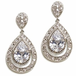 Ellie - Elegant High end Cubic Zirconia wedding earrings - SPECIAL
