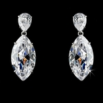 Eloise - Couture elegant CZ wedding earrings - SALE