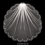Eloise - Romantic scalloped edge crystal wedding veil - SPECIAL