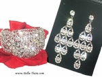 Elsie - crystal statement chandelier earrings and bracelet - AMAZING PRICE!!!