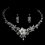 Elvie - Gorgeous Swarovski crystal wedding necklace set - SALE
