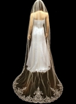 Emiliana - Dramatic royal beaded cathedral wedding veil - SPECIAL