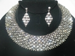 Emily - Gorgeous Dazzling Swarovski crystal collar necklace set - SALE!!