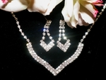 Ena - Elegant rhinestone necklace set - SALE!!