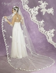 Enchanting Mantilla lace cathedral bridal veil - SALE!!!