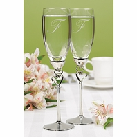 Entwined Hearts Flutes personalized - SALE!!!