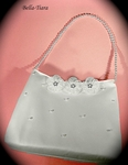 Erica - Pretty pearl and flower communion purse