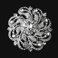 Esmeralda - STUNNING COUTURE Swarovski Crystal Brooch - two left