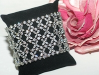Esperanza - High end gorgeous CZ wide wedding bracelet - Amazingly priced!!