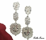 Estelle - GORGEOUS queen Swarovski crystal drop earrings - TWO LEFT