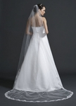 Evana - Gorgeous beaded alencon lace edge cathedral bridal veil - SALE!!!