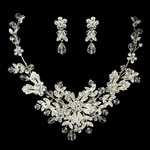 Evie - STUNNING NEW vine filigree swarovski crystal necklace set - SPECIAL