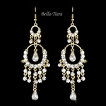 Exquisite gold chandelier earrings - sale