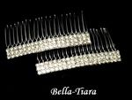 Falda - Elegant set of rhinestone hair combs - SALE