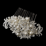 Felicia -  Royal Collection - Couture Crystal & Pearl Bridal Comb - SALE