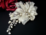 Fibi - Romantic freshwater pearl bridal hair comb - SALE!!