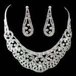 Flash - Dazzling bold swarovski crystal necklace set - SPECIAL two left