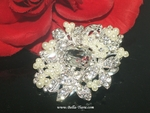 Flora- Beautiful off white pearl  crystal wedding hair pin - CLEARANCE - ONE LEFT