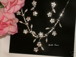 Floral beauty Rhinestone Necklace Set