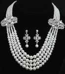Florence - Couture pearl strand wedding necklace - SALE