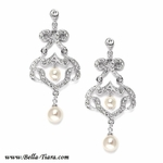 Florence - High end cz with off white pearl earrings - SPECIAL