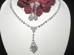 Fortuna - Royal CZ couture bridal necklace set- SALE!!