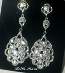 Francine - GORGEOUS vintage ivory pearl wedding drop earrings