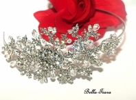 Francine - Beautiful floral crystal headband - ONE LEFT clearance