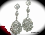 Francine - Victorian Bold rhinestone drop bridal Earrings - HOT!! back in stock
